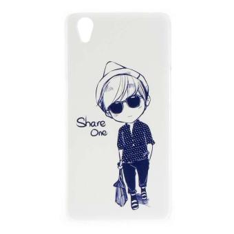 Cool Boy Clear Edge Hard Plastic Painting Back Cover Case For OPPO A37 ( Clear)