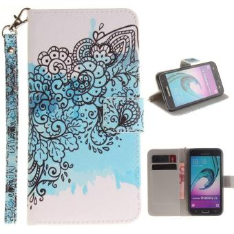 Flip Wallet Style simple pattern (PU leather and Soft TPU) Stand Protection phone case