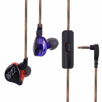 Knowledge Zenith KZ-ED12 In Ear Earphones With Mic - Black