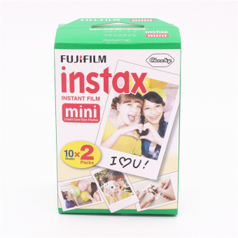 Harga Fuji 20pcs/box Fujifilm Instax Mini 8 Film 20 Sheets for Camera Instant Mini 7s 25 50s 90 Photo Paper Edge 3 Inch Wide Film