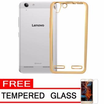 Softcase Silicon Jelly Case List Shining Chrome for Lenovo Vibe K5 Plus - Gold + Free