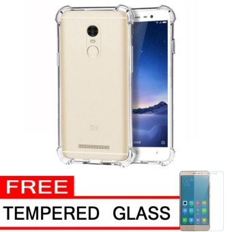Harga Case AntiCrack / Anti Crack / Shock / Benturan Elegant Softcase for Xiaomi Xioami Xiomi Redmi Note 3 / Pro + Gratis Free Tempered Glass