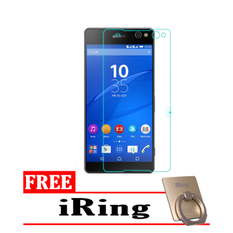 Tempered Glass Sony Xperia C5 Screen Protector - Putih Transparant + Free iRing
