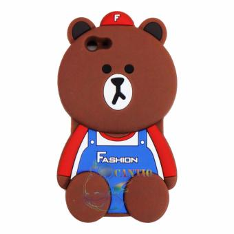 QCF Silicon Case 3D Untuk Oppo F1S Selfie Expert A59 Soft Back Case Animasi Beruang With Baju Fashion - Boy Bear F