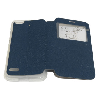 Harga Ume Flip Leather Phone Cover for Hisense F30 / Pureshot FlipCover / Flip Shell / Leather Case / Sarung HP / View - Biru Tua