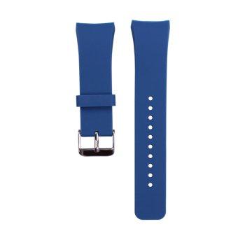Silikon untuk perhiasan Band Samsung Galaxy Gear S2 SM-R720(Biru)