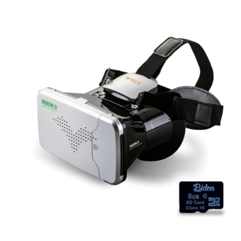 Harga Riem 3 +SDv02 VR Box Cardboard 2 with Capacitive Touch & 8G Game + Virtual Reality Glasses