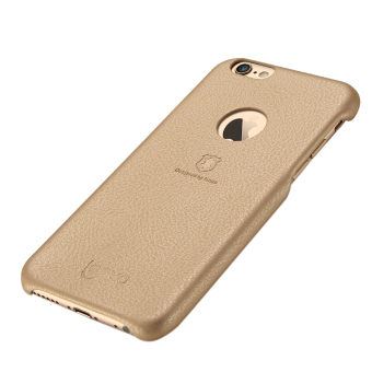 Harga Lenuo Original Cases Elegant PU Leather PC Back Cover Protective for iPhone 6/iPhone 6s(Gold)