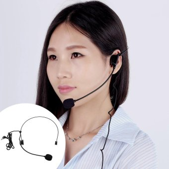 Harga Uni-Directional Head-mounted Headworn Headset Microphone Mic Flexible Wired Boom for Voice Amplifier Amp Loudspeaker Outdoorfree - intl