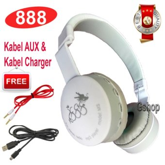 Harga 888 Bluetooth KSD- 288B Stereo Headphone Support Micro SD ROPS EDR Buil-In Mikrofon MP3 FM Headset