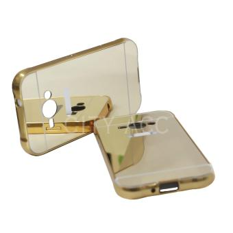 Harga Case for Samsung Galaxy J1 Ace 2016 / J1 Ace Alumunium Bumper With Mirror Backdoor Slide - Gold