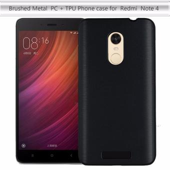 Harga For Xiaomi Redmi Note 4 Case 5.5inch Brushed PC Back Cover + Aluminum Metal Frame For Xiaomi Redmi Note 4 Prime Pro Phone Case - intl