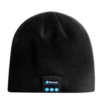 Marlow Jean Bluetooth Knit Beanie With Hands Free Calls Topi Kupluk Bluetooth Hitam Models And Prices