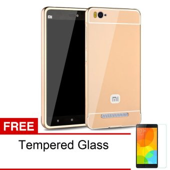 Harga Accessories Hp Bumper Metal Backcase for Xiaomi MI4i - Gold
