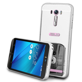 Harga Casing Asus Zenfone Selfie Bumper Chrome With Backcase Mirror - Silver