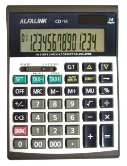 Harga ALFA LINK Calculator Desktop 14 Digits CD-14 - Black