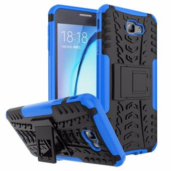 Harga for Samsung Galaxy On7 (2016) & J7 Prime [Tyre Pattern] GuluGuru PC+TPU Hybrid Back Cover Impact Resistant Shockproof With Built in Stand Armor Cell Phone Case - intl