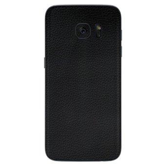 9Skin - Premium Skin Protector untuk Samsung Galaxy S7 Edge - Leather Texture - Hitam