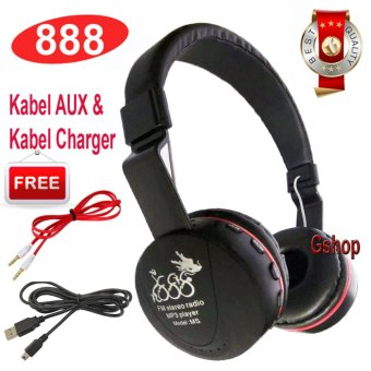 Harga 888 Bluetooth KSD- 668B Stereo Headphone Support Micro SD ROPS EDR Buil-In Mikrofon MP3 FM Headset