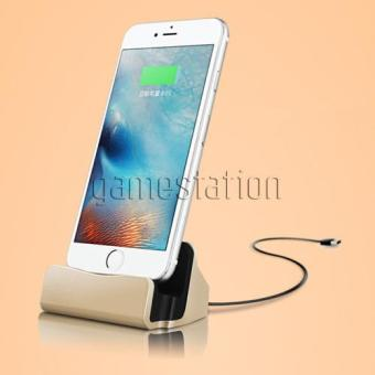 Harga GStation Desktop Stand Charger Lightning Dock Station Cradle Sync For iPhone 5 / 6 / 7 and for iPod Touch 5 / 6