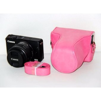 Harga Protective PU Leather Camera Case Bag Cover with Shoulder Strap for Canon EOS M/EOS M2/EOS M10 - intl