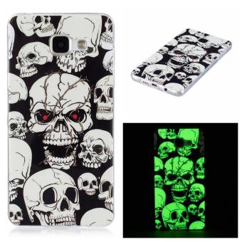 Harga Skull ghost head Noctilucent TPU Soft Gasbag Back Case Cover For Samsung Galaxy A5(2016) A5100 A510 Case - intl