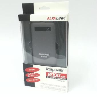 Harga ALFA LINK Power bank AP 8000 Mah Dark Grey