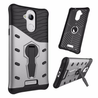 Harga Hard Plastic + TPU Hybrid Armor Bracket Impact Holster Cover Case for Coolpad Note 5 (Silver) - intl