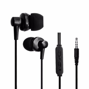 Harga Resong W3+ Wired Music In-ear Headsets Black