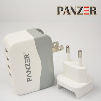 Harga Panzer Travel Charger Fast Charging 4 Ports USB