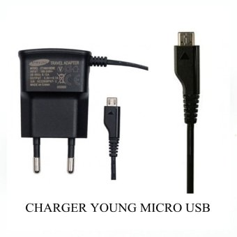 Harga Samsung Travel Charger Micro USB Young / S2 I9100 Wonder - Hitam