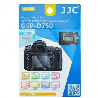Harga JJC GSP-D750 Tempered Toughened Optical Glass Camera Screen Protector 9H Hardness For Nikon D750 - intl