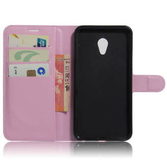 Harga Leather Case Flip Stand Cover For Meizu MX6 (Pink)
