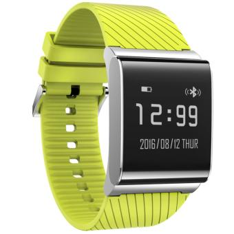 X9 Plus Smart Band Heart Rate Monitor Bluetooth Bracelet Blood Pressure X9Plus Blood Oxygen Test Bracelet Silica Gel (Green) - intl