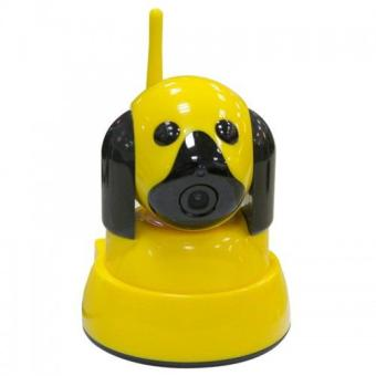 Harga Sky IP Camera CCTV Bentuk Anjing Doggy Style 720P HD IR Night Vision IP Cam - Kuning