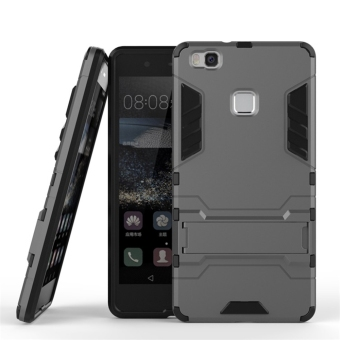 Harga RUILEAN Hybrid Armor Dual Layer TPU + PC Shockproof Stand Case for Huawei P9 Lite (Grey)