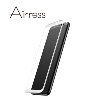 Harga Airress HD Full Covered 3D Curved Tempered Glass Screen Protector for Samsung Galaxy S8 (White) - intl