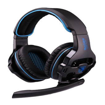 Harga Sades Headset Sa-903 7.1 Sound Effect Usb Gaming (Black-Blue)