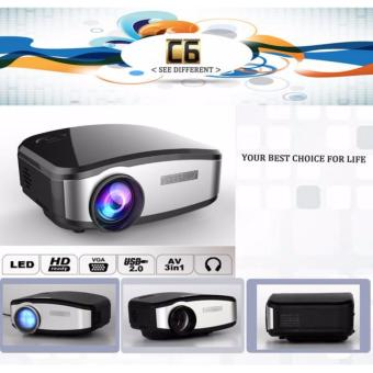 Harga CHEERLUX C6 Mini Proyektor Projector Portable LED LCD + TV