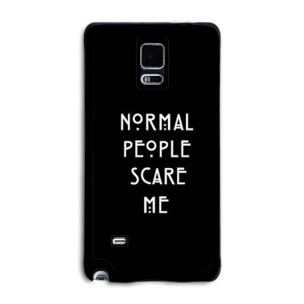 Petrel Dark Letters Pattern Design Printing Phone Case Cover for Samsung Galaxy Note 4 Black