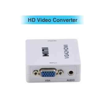 VGA to HDMI Converter with Audio Support Support up to 1920 x 1080 Output Resolution - intl