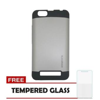 Harga Case Lenovo Vibe C Slim Armor - Silver + Tempered Glass