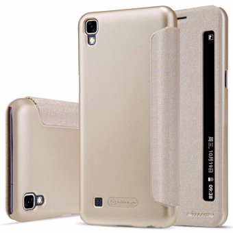 Nillkin Case kulit berkilau seri Flip Super tipis untuk menutupi LG x Power/ K220Y -