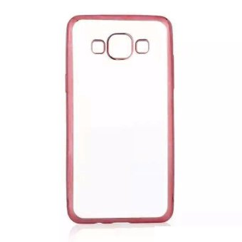 Harga Case Softcase Samsung Galaxy A3 (300) List Chrome - Rose Gold