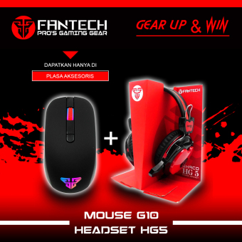 Fantech Mouse Gaming G10- Hitam + Fantech Headset Gaming HG5- Shaco