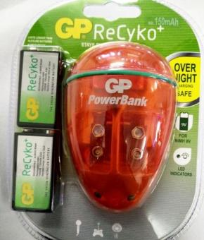 Harga GP Batteries Charger 9V Recyko 150MAH 2BP