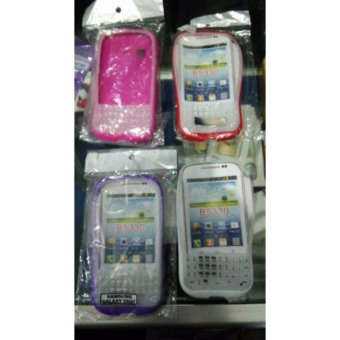 Harga Kondom HP Samsung Galaxy Chat B5330 Full Keypad / Softcase Cat Android Fullkeypad / Silikon Chet Full Key Pad / Silicon Ful Tombol Qwerty / Soft Case Cet B 5330
