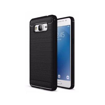 iPaky Carbon Fiber Shockproof Hybrid Case for Samsung Galaxy Grand Prime G530 / G531 - Black