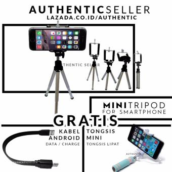 Harga Authentic Tripod Holder U for Video Blog - Selfie gagang besi gratis tongsis mini lipat tombol + kabel data android micro usb 26cm