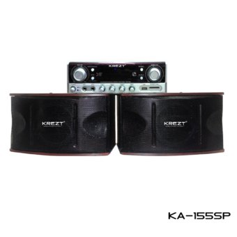 Harga Krezt Karaoke Amplifier Speaker System KA-155SP (Speaker Karaoke Set + Amplifier)